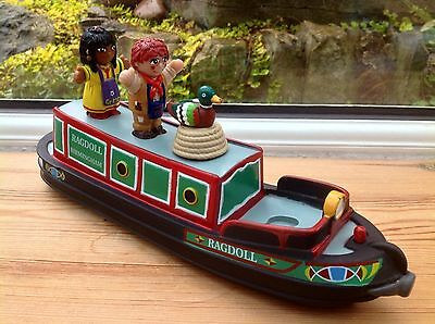 Rosie And Jim Canal Boat Barge Narrowboat Bath Toy Playset - Complete - Rare!!!