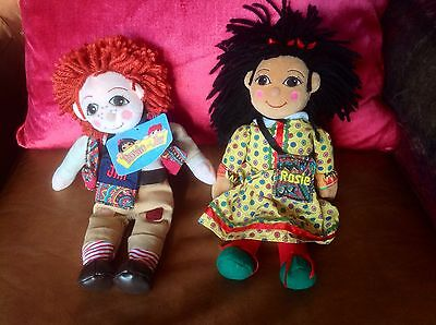 "Rosie & Jim Toy - 10"" Rosie And Jim Narrowboat Barge Canal Boat Beanie Rag Dolls"
