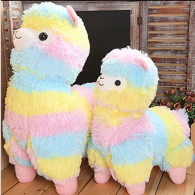 "7"" 14'' 18''Large Rainbow Alpacasso Alpacasso Kawaii Alpaca Llama Plush Toy Doll"