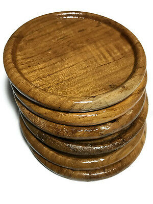 Wood Coaster Teak Wooden Coasters Set (Set of 6)