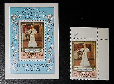 Turks & Caicos Islands 1980 Queen Mothers 80th Birthday MNH (No109)