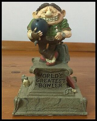 Collectable Figurine By Gary Patterson U.S.A. - ' Worlds Greatest Bowler - U.S.A