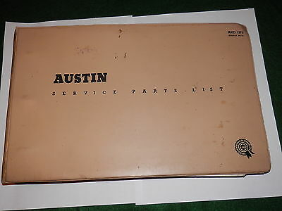 AUSTIN GIPSY SII service parts catalogue issued 1963