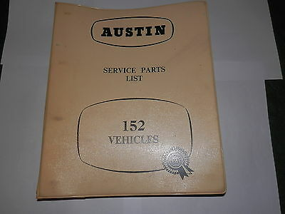 AUSTIN A152 service parts list published 1957
