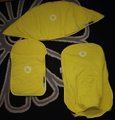 Bugaboo Cameleon 1 or 2 Fabric Set, Hood, Apron, Seat Cover in Yellow