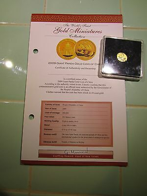 1/20 Ounce Gold Panda 2009 In Capsual With Cert