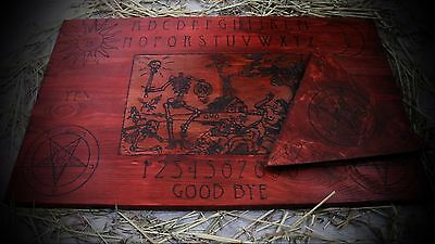 """handmade wooden ouija board """"End of the Days"""" with planchette"""