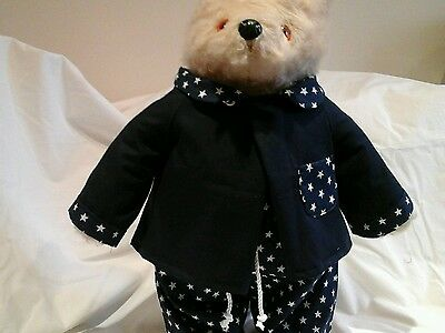 "NEW PJ's for YOUR Gabrielle Paddington Bear to fit 14-18"" 100%"