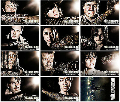 12pc The Walking Dead Season 7 2016 Promo Cards Photo Card Card Stickers A
