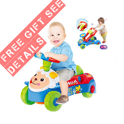 3 IN 1 Baby Walker / Ride-on Car / Shape Sorter + Free Gift