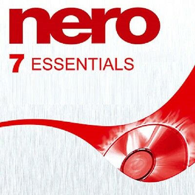 Nero 7 Essentials CD and DVD Burning Software for Windows Xp/Vista/7/8/8.1/10