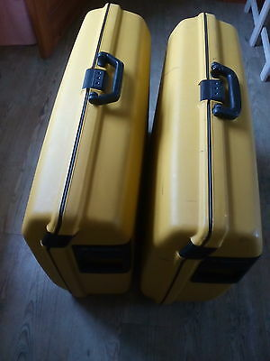 2 x Samsonite Oyster Hard Shell Yellow Wheeled Suitcaes, 75x 55x25.