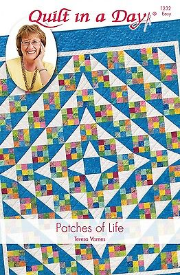 PATCHES OF LIFE QUILT QUILTING PATTERN, From Quilt In A Day NEW