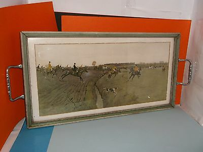 RARE Cecil Aldin FITZWILLIAM at Whoop Whoop Near Solom Wood Glazed as a TRAY