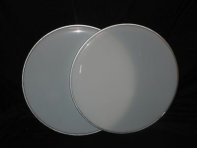 "NEW Pair 22""  White Bass Drum Heads Two Heads Included Cheap Price"