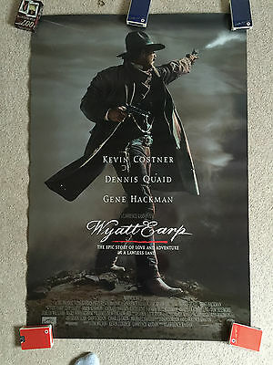 Wyatt Earp Original US One Sheet Kevin Costner Double sided Poster