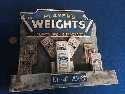 1930s/40s Players Weights Shop Cigarette Stand (Empty Packs)