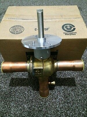Mueller A17810 AC Refrigeration Cyclemaster Actuated 3 Way Ball Valve 1-3/8