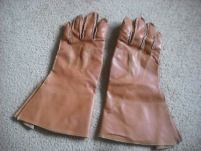 Reproduction Ww2 Style British Motorcycle Dispatch Riders Gauntlets  Med-Large