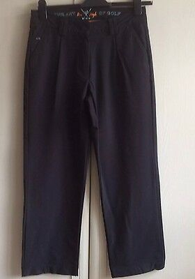 Pin High Ladies Black Golf Trousers Size Small (10-12)