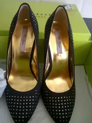 Ted Baker black and gold heels. UK6. New with box.