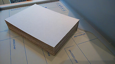 10x A5 Cardboard Sheets - for Crafts / Packaging - 2mm thick - New