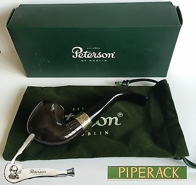 NEW Peterson Fermoy 9mm Filter Bent Rhodesian Briar Pipe (230) Free PIPE TOOL