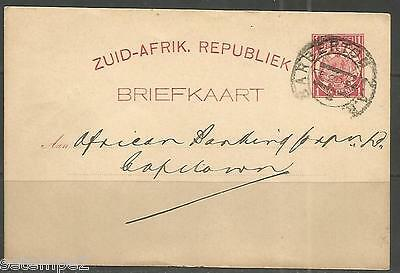 Transvaal Postcard Barberton 20.02.1894 Natal Bank Limited to Capetown