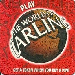Carling brewery beermat Cat 336