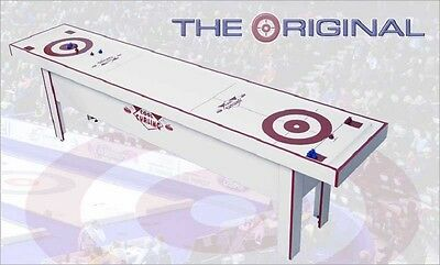 Curling Game Table 10' The Original Table Curling Game WHT/RED ~ Cool Curling