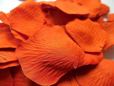 100 BURNT ORANGE HALLOWEEN  QUALITY THICK SILK ROSE PETALS CONFETTI/wedding
