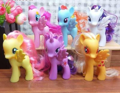 6 x My Little Pony Mini Figures Rainbow Dash Celestia toy Figures