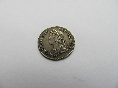 George II Second 1743 Maundy Penny 1D