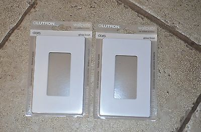 2 Pack! Genuine Lutron Clara CW-1-WH (White) 1 Gang Wallplate FREE USA SHIPPING
