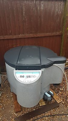EA Evolution Aqua Nexus 210 Koi Pond Filter System with Lid & K1 Media