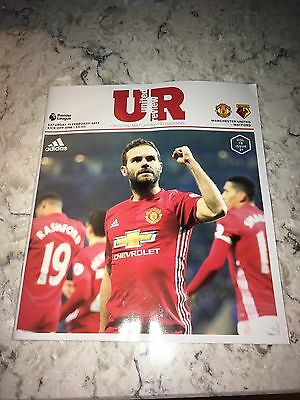 Man United V Watford 11th Feb 2017 Official Matchday Programme NEW
