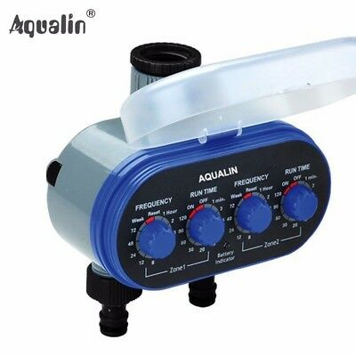 Home Ball Valve Electronic Two Outlet Four Dials  Water Timer Garden Irrigation