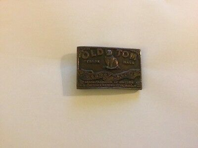Old Tom safety matches belt buckle