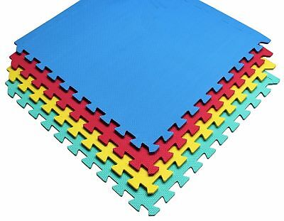 Interlocking Eva Soft Foam Exercise Floor Mats Garage Office Kids Play