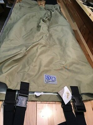 Chota Breathable Chest Waders, Stocking Foot Sz. Large Short.