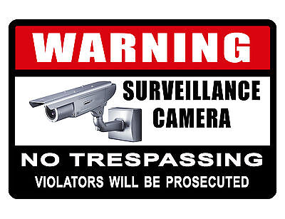 NO TRESPASSING Sign VIDEO SURVEILANCE SIGN Durable NO RUST Aluminum Sign
