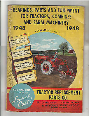 1948 Tractor Replacement Parts Co. Chicago, Catalog