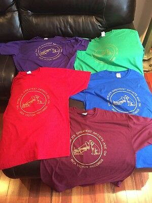 1 RCA Victor Phonograph Records T Shirt 5 Colors Nipper Cylinder Record