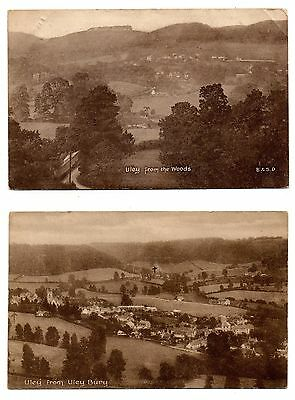 1912 Uley Gloucestershire Postcards (2) Views From The Woods & From Uleybury
