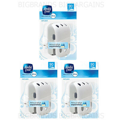 3 x Ambi Pur Febreze 3volution Plug In Adjustable Machine Unit Home 3 Pack