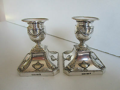 Pair Victorian Silver Plated Candlesticks..Circa 1880..