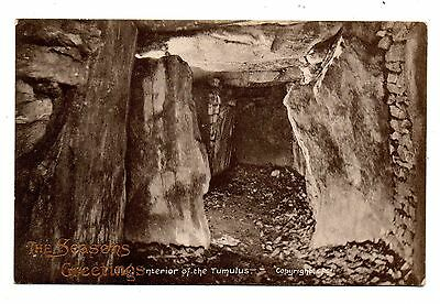 Uley Gloucestershire Postcard Interior Of The Tumulus