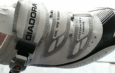 Diadora Carbon Speedracer 2  Cycling Shoes Size 42 (Uk 8) Rare