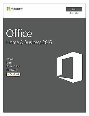 Microsoft Office 2016 Home & Business for Mac (Word, Excel, Powerpoint, Outlook)