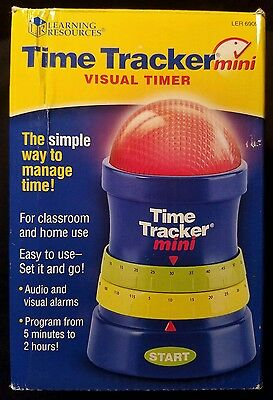 Learning Resources Time Tracker Mini Timer Visual Alarm Management